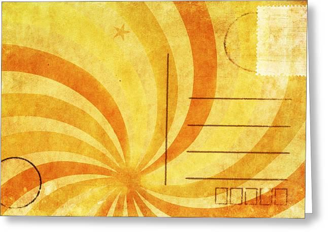 grunge ray on old postcard Greeting Card by Setsiri Silapasuwanchai