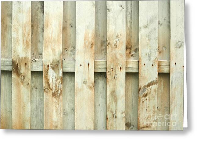 Board Fence Greeting Cards - Grungy old fence background Greeting Card by Blink Images