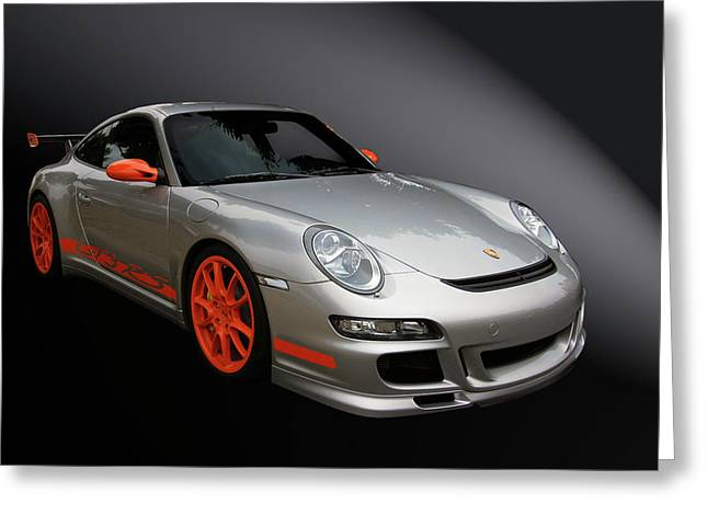 Vehicle Greeting Cards - Gt3 Rs Greeting Card by Bill Dutting