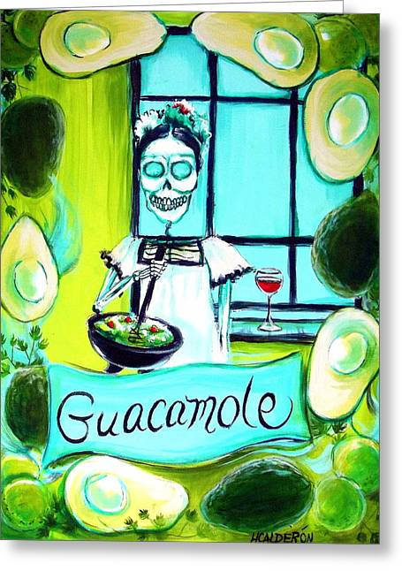 Taco Greeting Cards - Guacamole Greeting Card by Heather Calderon