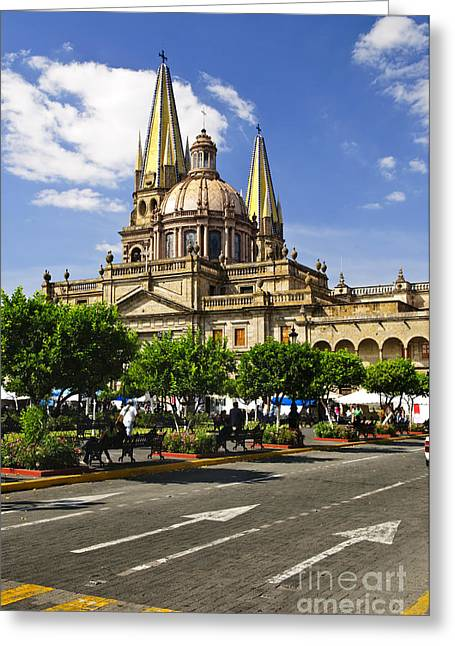 Dome Greeting Cards - Guadalajara Cathedral Greeting Card by Elena Elisseeva