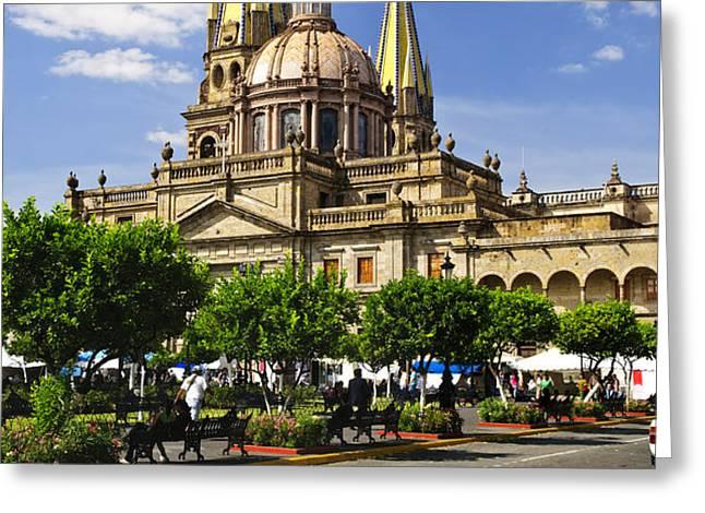 Guadalajara Cathedral Greeting Card by Elena Elisseeva