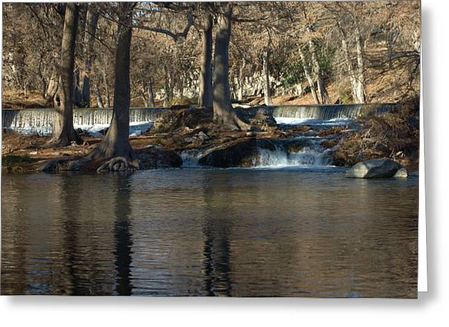 Winter Prints Greeting Cards - Guadalupe Overflows Greeting Card by Karen Musick