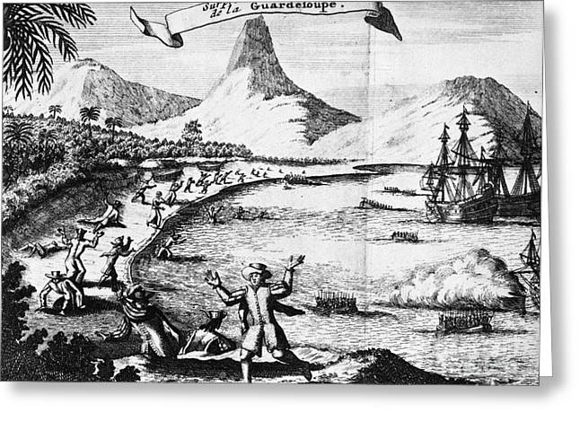 Ambush Greeting Cards - GUADELOUPE, 17th CENTURY Greeting Card by Granger