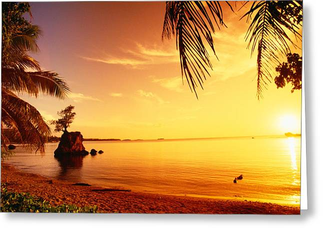Guam Greeting Cards - Guam, Agat Bay Greeting Card by Dave Fleetham - Printscapes