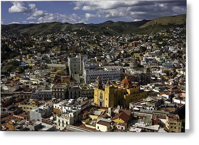 Birdseye Greeting Cards - Guanajuato Vista Greeting Card by Lynn Palmer