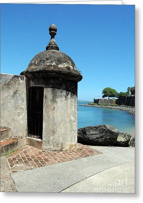 Guard Post Castillo San Felipe Del Morro San Juan Puerto Rico Greeting Card by Shawn O'Brien
