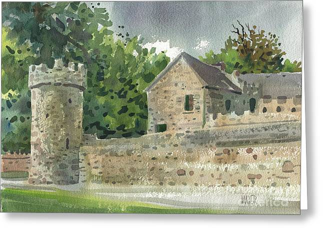 Guard Tower Greeting Cards - Guard Tower at Tintern Abbey Greeting Card by Donald Maier