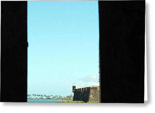 Guard Tower View Castillo San Felipe Del Morro San Juan Puerto Rico Greeting Card by Shawn O'Brien
