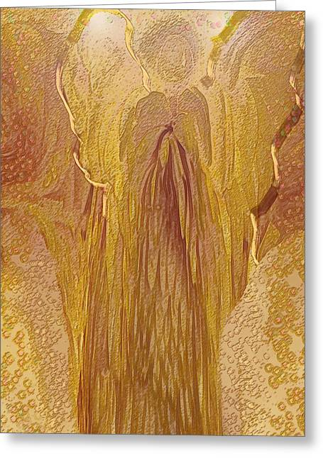 Abstract Expression Greeting Cards - Guardian Angel Greeting Card by Linda Sannuti