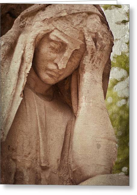 Headstones Greeting Cards - Guardian Greeting Card by Nomad Art And  Design