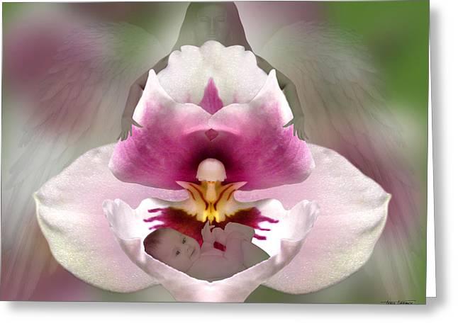Best Sellers -  - Floral Digital Art Digital Art Greeting Cards - Guardian Greeting Card by Torie Tiffany