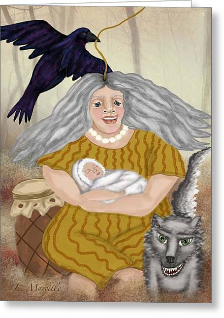 Linda Marcille Greeting Cards - Guardians of Autumns Child Greeting Card by Linda Marcille