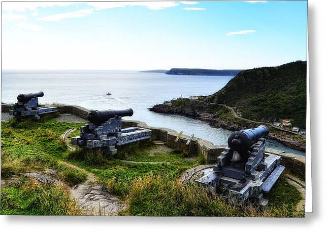 Historic Site Greeting Cards - Guarding the Harbour Greeting Card by Steve Hurt