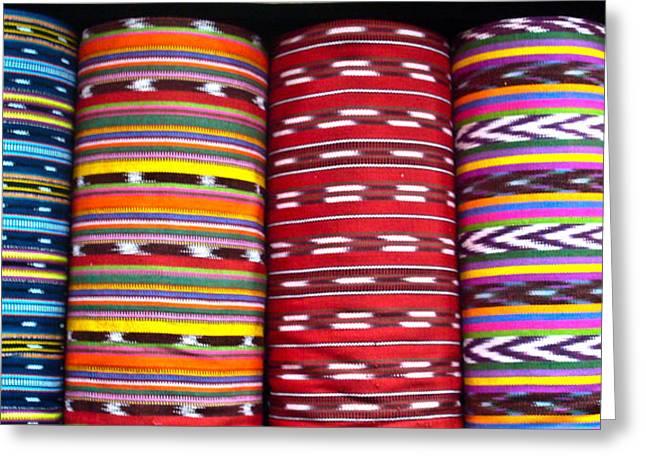 Textile Greeting Cards - Guatemalan Textiles 2 Greeting Card by Douglas Barnett