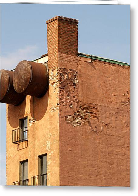Urban Buildings Greeting Cards - Guesstamate Greeting Card by Robert Trauth
