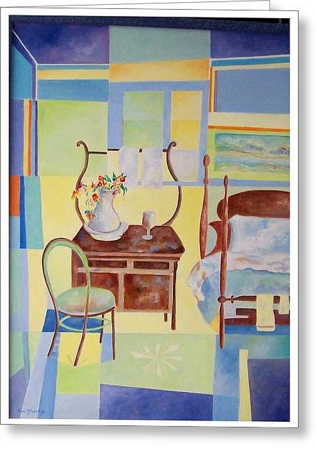 Sue Prideaux Greeting Cards - Guest Room  Greeting Card by Sue Prideaux