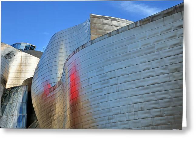 Reflex Greeting Cards - Guggenheim Museum Bilbao - 3 Greeting Card by RicardMN Photography