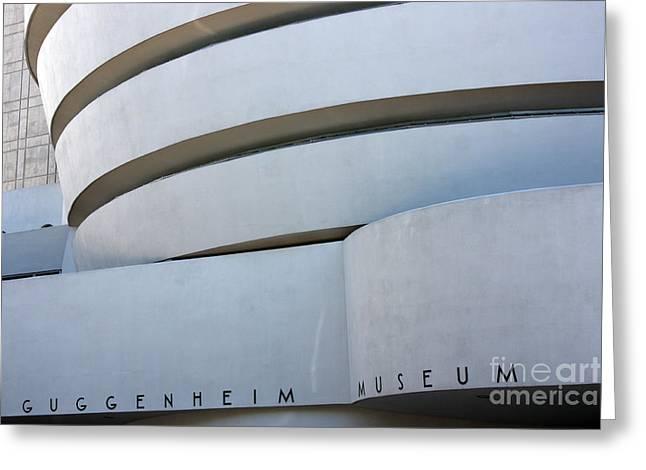 Guggenheim Museum Greeting Card by David Bearden