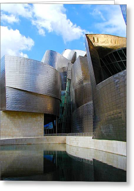 Guggenheim Greeting Cards - Guggenhiem 2 Bilboa Spain Greeting Card by Paul Basile