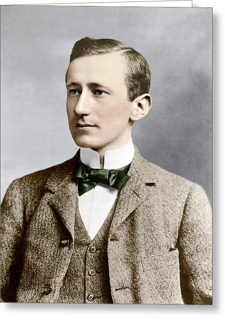 Pioneer Illustration Greeting Cards - Guglielmo Marconi, Radio Inventor Greeting Card by Sheila Terry