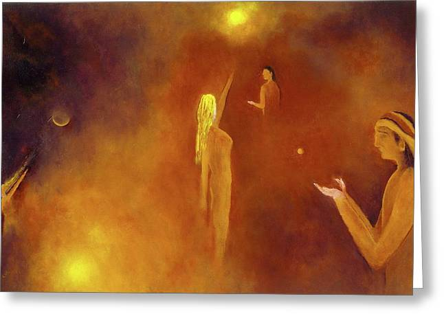Warrior Goddess Paintings Greeting Cards - Guidance Greeting Card by Lawrence Neal Katzman