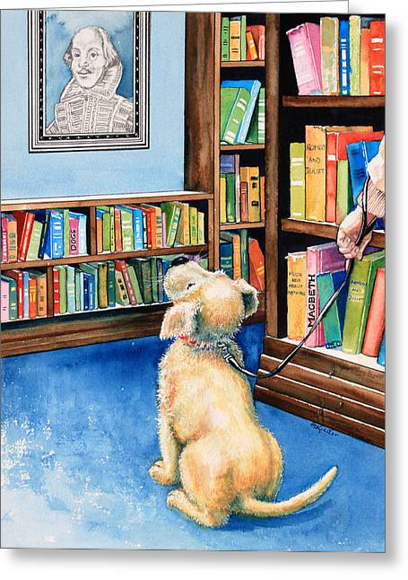 Canadian Illustrator Greeting Cards - Guide Dog Training Greeting Card by Hanne Lore Koehler