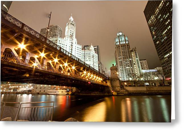 Chicago Landscape Greeting Cards - Guide Me Across The River Greeting Card by Daniel Chen