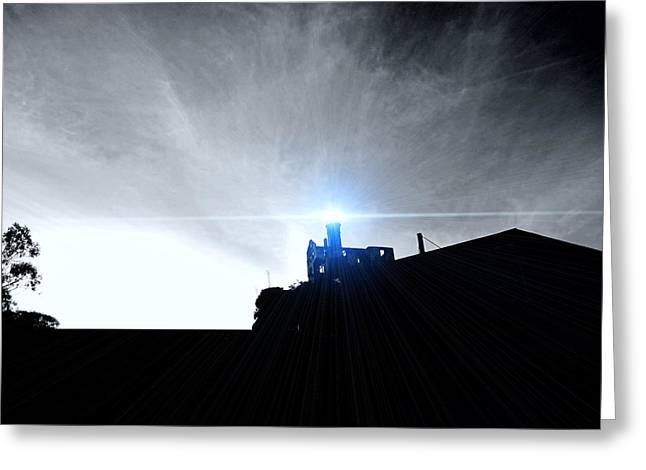 Best Sellers -  - Alcatraz Greeting Cards - Guiding Light-Alcatraz Greeting Card by Douglas Barnard