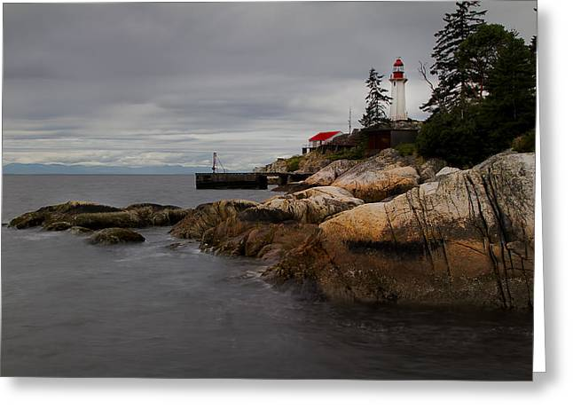 West Vancouver Greeting Cards - Guiding Light Greeting Card by Jorge Ligason