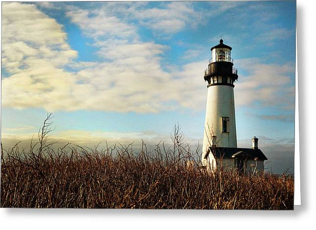 Oregon Coast Greeting Cards - Guiding Me Home Greeting Card by Becky Thompson