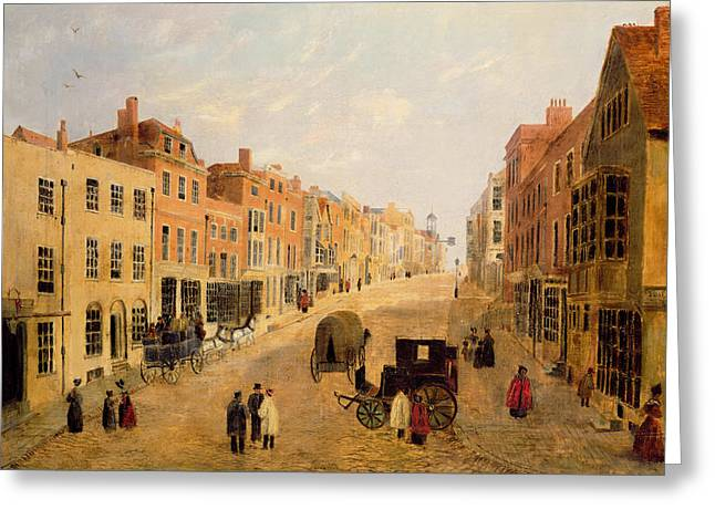 Cobbles Greeting Cards - Guildford High Street Greeting Card by English School