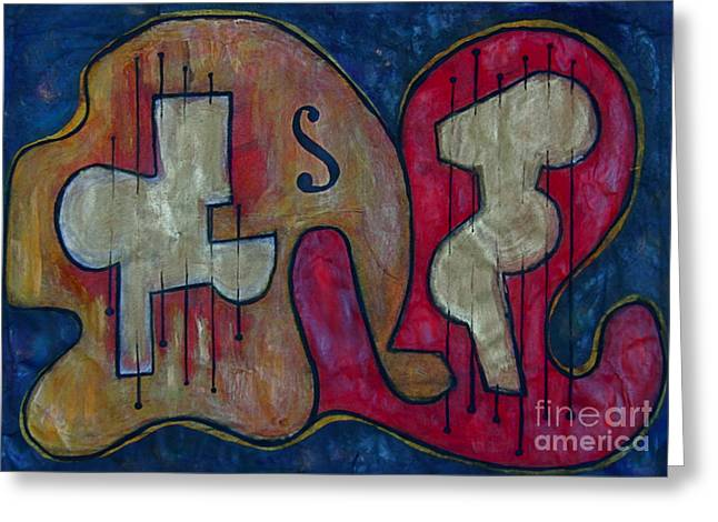 Quartet Mixed Media Greeting Cards - Guitar Greeting Card by Dan Earle