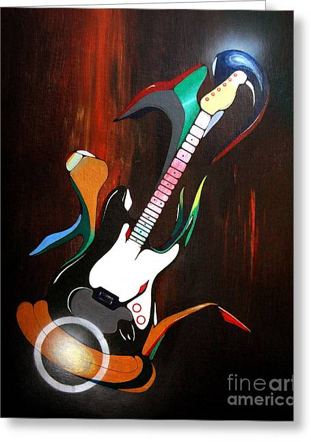 Guitar Melody Greeting Card by Peter Maricq