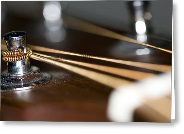 Guitar Greeting Cards - Guitar String Windings Greeting Card by C Ribet