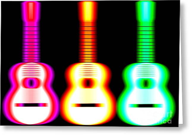 Blurred Greeting Cards - Guitars on Fire Greeting Card by Andy Smy