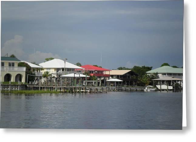 Seacape Digital Art Greeting Cards - Gulf Coast Community Greeting Card by Sheri McLeroy