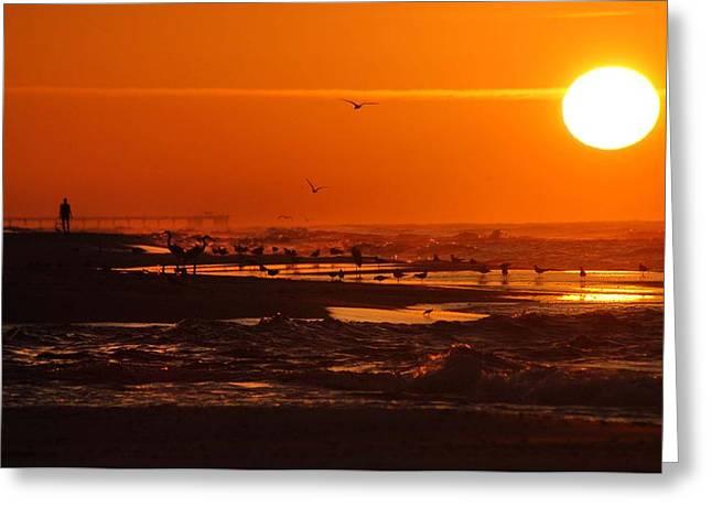 Crimson Tide Greeting Cards - Gulf Coast Sunday Morning Greeting Card by Michael Thomas