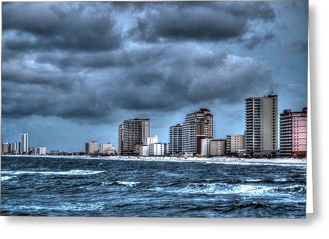 Crimson Tide Greeting Cards - Gulf Shores From the Pier Greeting Card by Michael Thomas