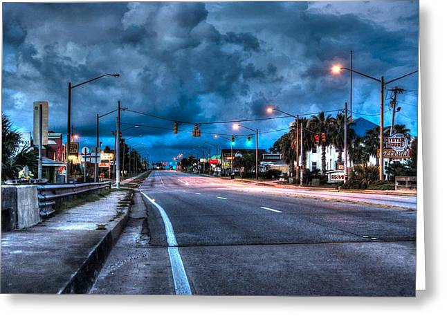 Crimson Tide Greeting Cards - Gulf Shores Mainstreet Greeting Card by Michael Thomas