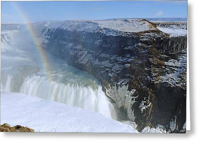 Gullfoss Falls Greeting Card by Chris Madeley