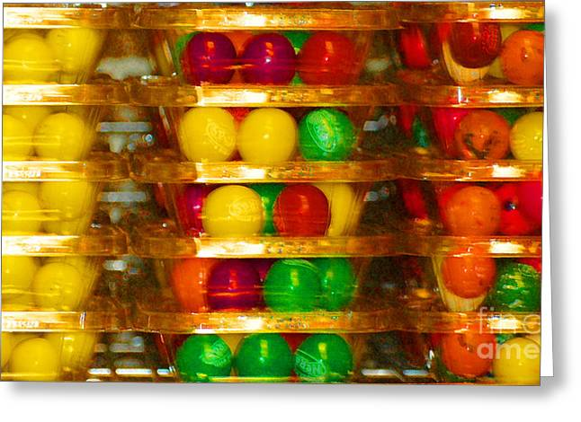 Gumball Candy Abstract Greeting Card by adSpice Studios
