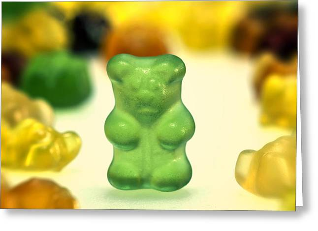 Sweetness Greeting Cards - Gummi Bear Greeting Card by Joana Kruse