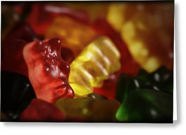 Sugary Greeting Cards - Gummi Bears Greeting Card by Rick Berk