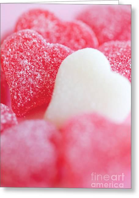 Gummy Candy Greeting Cards - Gummi Heart Greeting Card by Kim Fearheiley