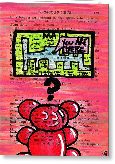 Bright Drawings Greeting Cards - Gummy Bears Cant Read Greeting Card by Jera Sky
