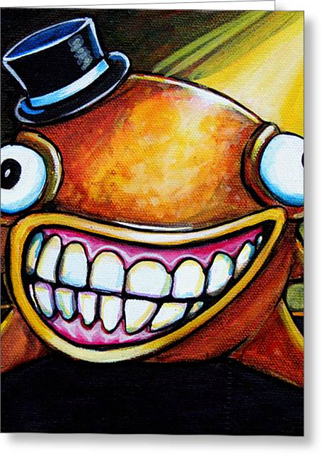 Fantasy Creatures Paintings Greeting Cards - Gummy Stage Glob Greeting Card by Leanne Wilkes