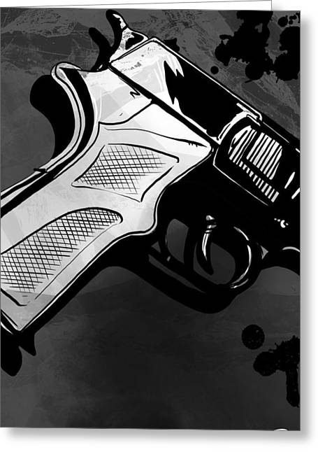 Drop Greeting Cards - Gun number 1 Greeting Card by Giuseppe Cristiano