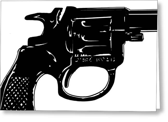 Detective Greeting Cards - Gun number 3 Greeting Card by Giuseppe Cristiano