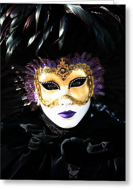 Carnivale Greeting Cards - Gunilla Marias Portrait 2 Greeting Card by Donna Corless
